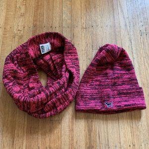 Victoria's Secret PINK infinity scarf & toque set
